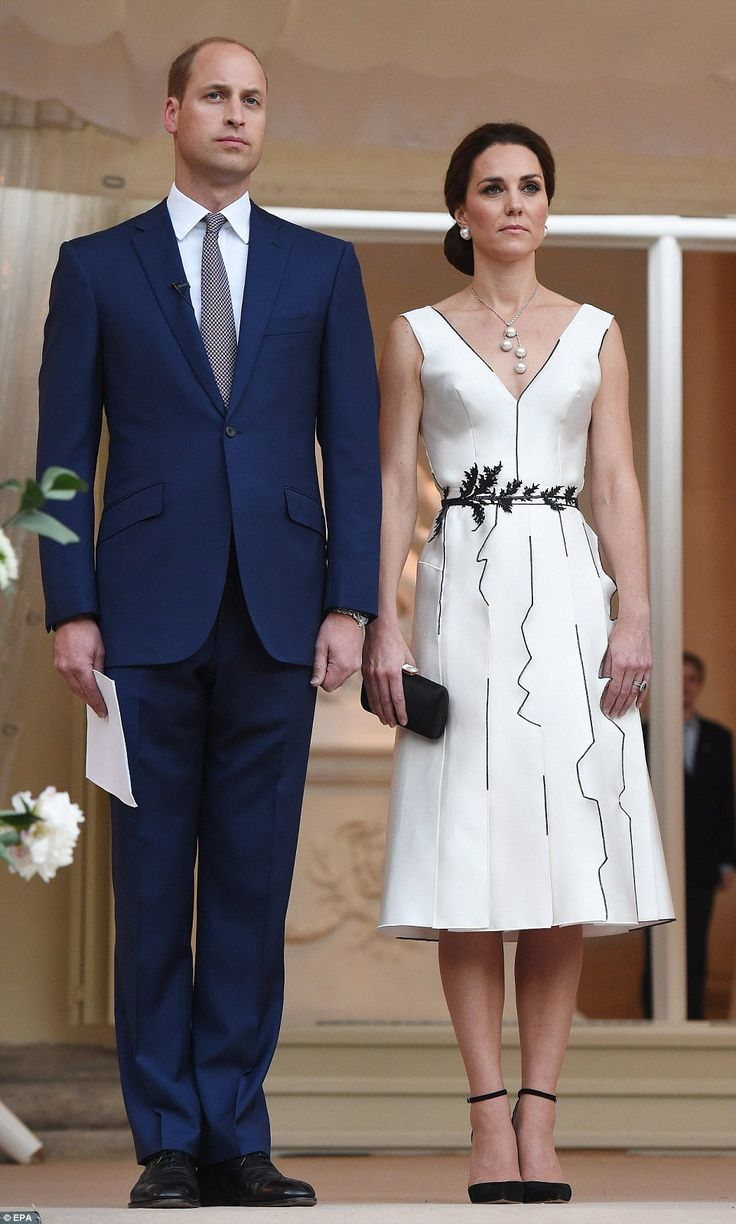 Representing the monarchy: During tonight's event, the Duke made a speech on behalf of his grandmother, who turned 91 earlier this year and has started officially delegating public duties to younger royals like Kate, William and Harry