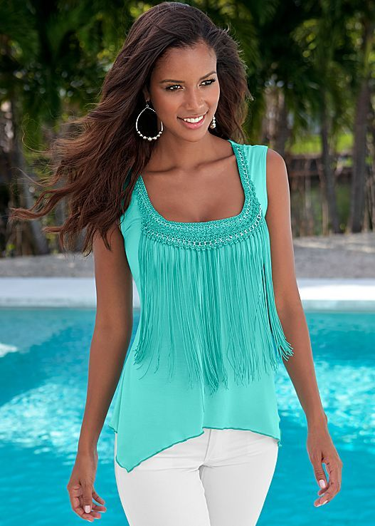 The fringe top you didn't know you needed! Venus fringe detail top.