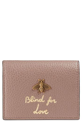 ce028b1b9686 Gucci Animalier Bee Leather Card Case | Womens Wallet Styles ...