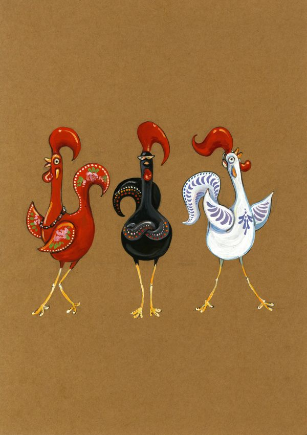 Roosters of Barcelos by Alissa Berkhan, via Behance
