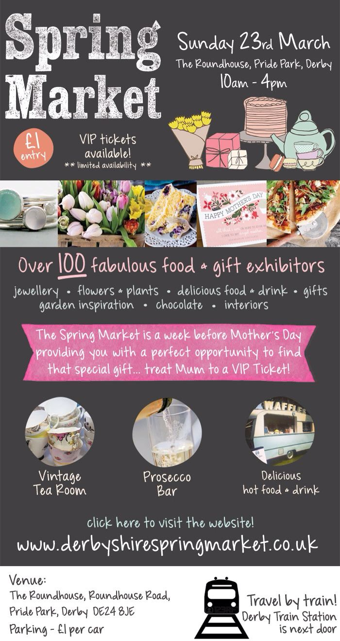 Coming to Derby on the 23rd March, over 100 food & gift exhibitors!