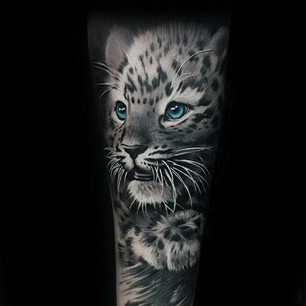 50 Snow Leopard Tattoo Designs Für Männer – Tier Tattoos Ideen