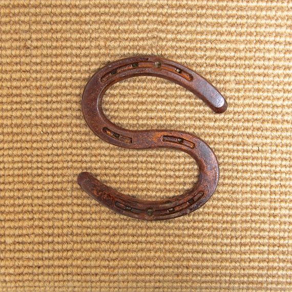 Horseshoe Letter S Wall Hanging Sign Can Be Engraved To