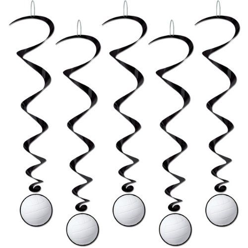 Black Friday Deal Volleyball Whirls Party Accessory (1 count) (5/Pkg) from Beistle Cyber Monday