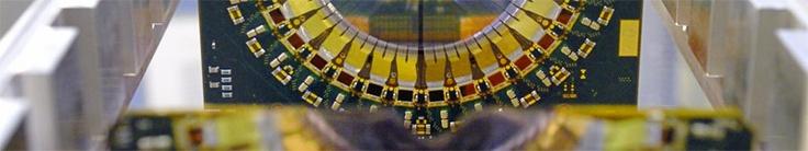 How a particle detector works - Detail of the LHCb VErtex LOcator (VELO), CERN, Geneva, Switzerland