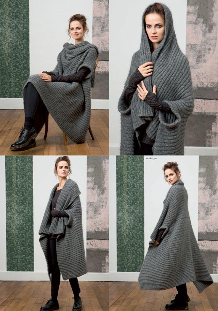 Breien. Vest. Deken. Dit prachtige vest, ook te gebruiken als deken, maakt u met LANG Yarns Lusso en Nova.  Model en patroon staan beschreven in het patronenboek FaM 236 Collection (Model 33) FAM_236_Collection-36.jpg