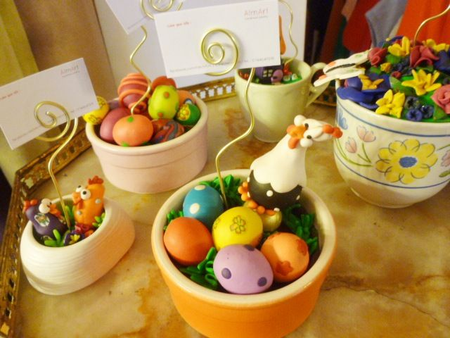 Easter polymer clay decorations