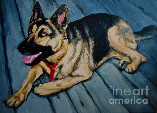 Very cool German Shepard dog painting...John now has a Face Book page, click on the link to like it, here is the link..https://www.facebook.com/JsmFineArts?v=app_309028460694