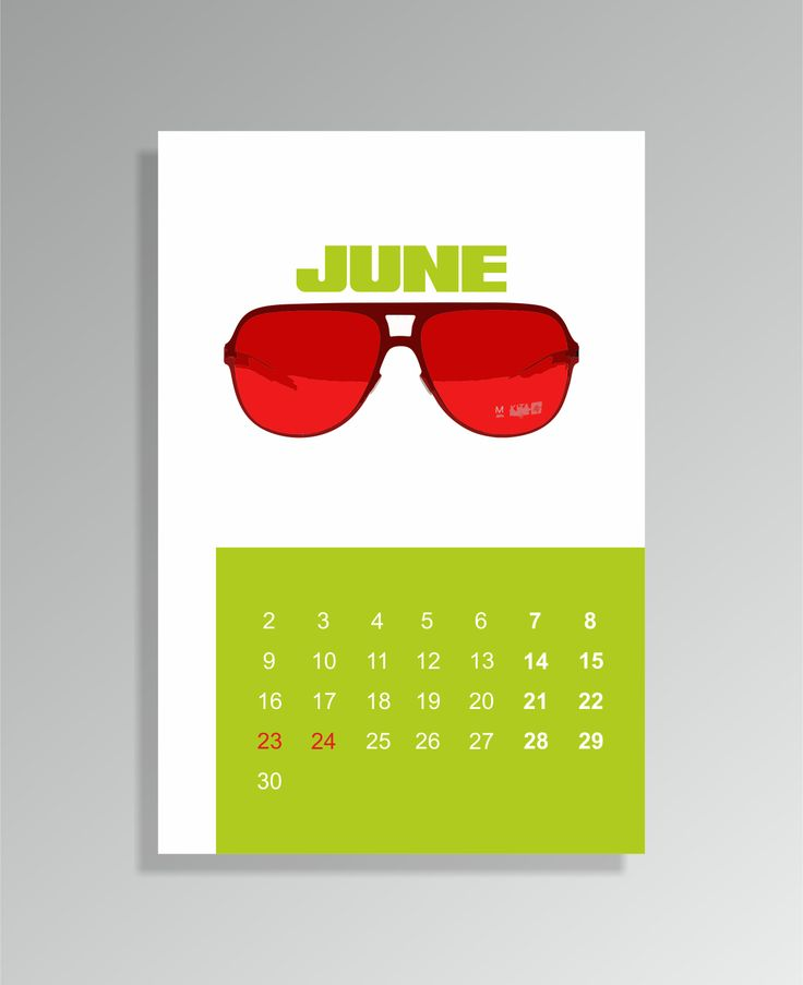 calendar for june #design_by_krista