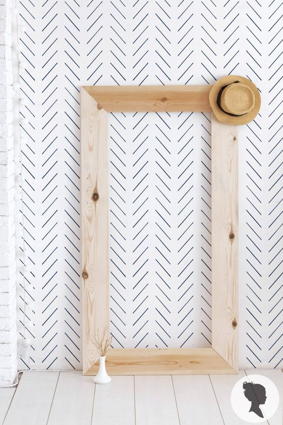 Delicate Herringbone Pattern Self Adhesive Temporary by Livettes