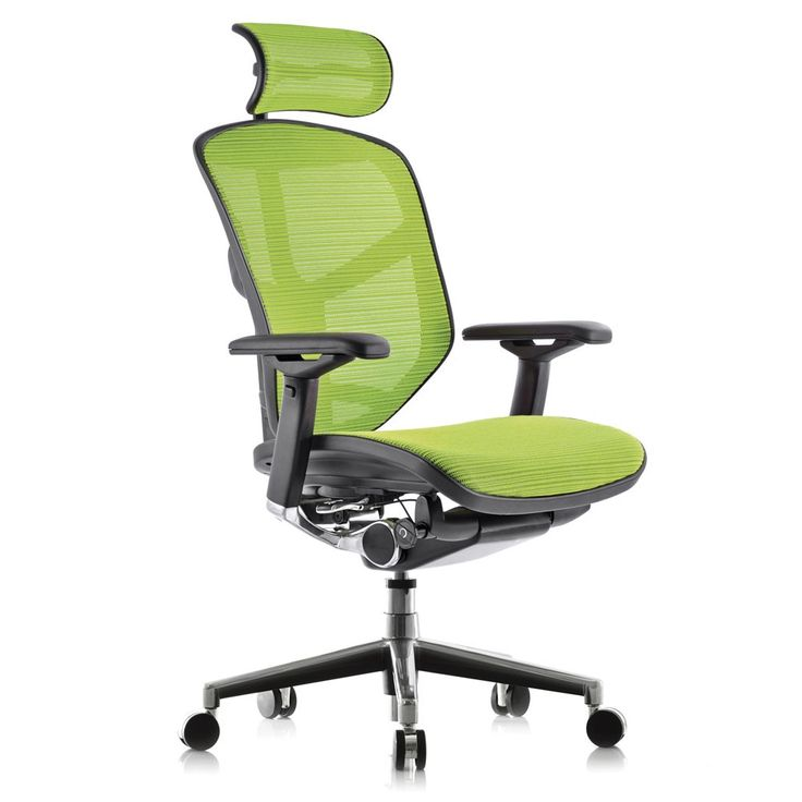 Enjoy Office Chair With Headrest Green Next Day Delivery Packed Full Of Ergonomic