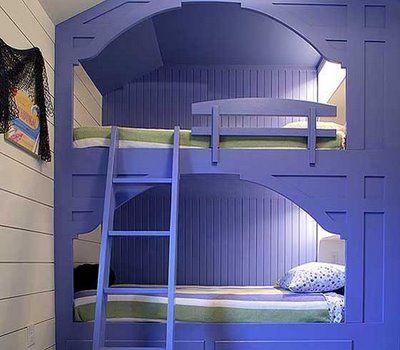 boys loft built in beds | built-in bunk beds