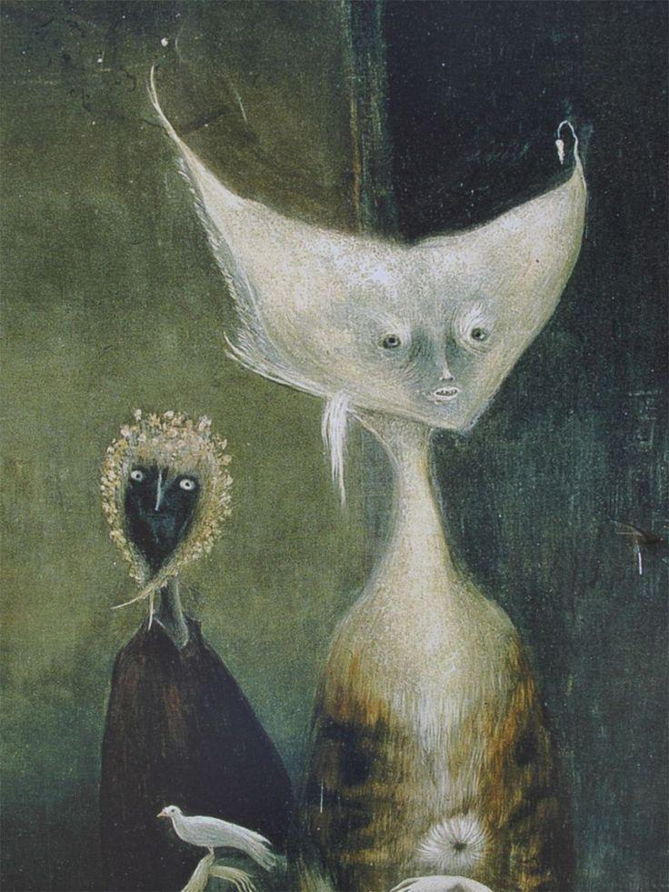 Pintura de Leonora Carrington (1917 - 2011) que me recuerda a Remedios Varo.