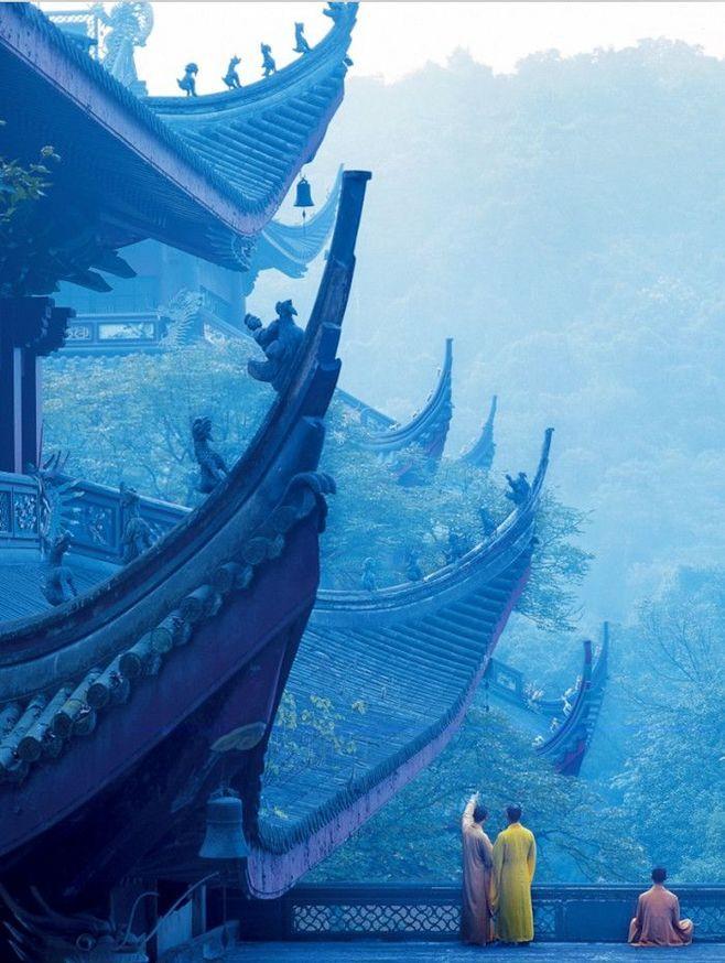 湖畔阴影采集到中国风·风景·人物 China mood