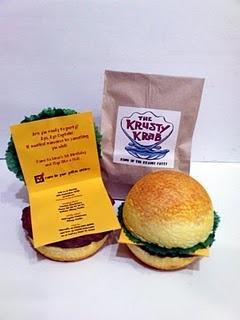 Coolest ever Spongebob invite!!!  Fake buns of course.