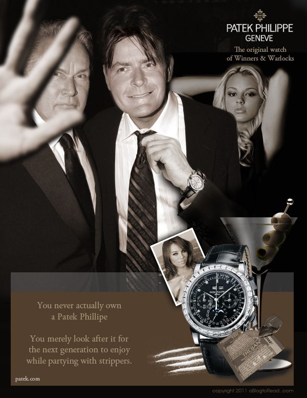 Charlie Sheen & Father Debut In Patek Philippe Watch Ad