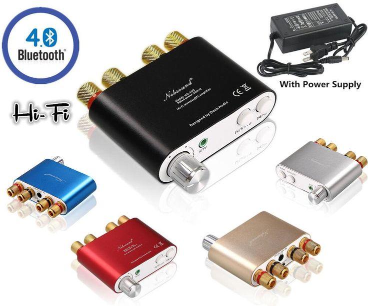 2016 Nueva Nobsound TPA3116 HiFi 100 W Mini Bluetooth 4.0 Amplificador Digital Amp + fuente de Alimentación Envío Gratis