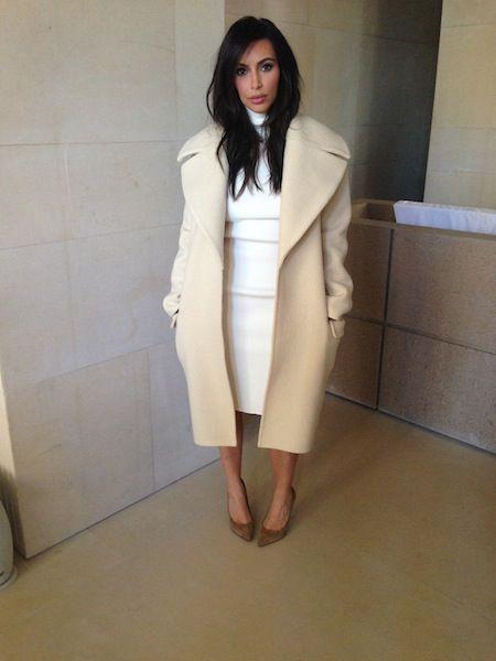 Kim Kardashian coat
