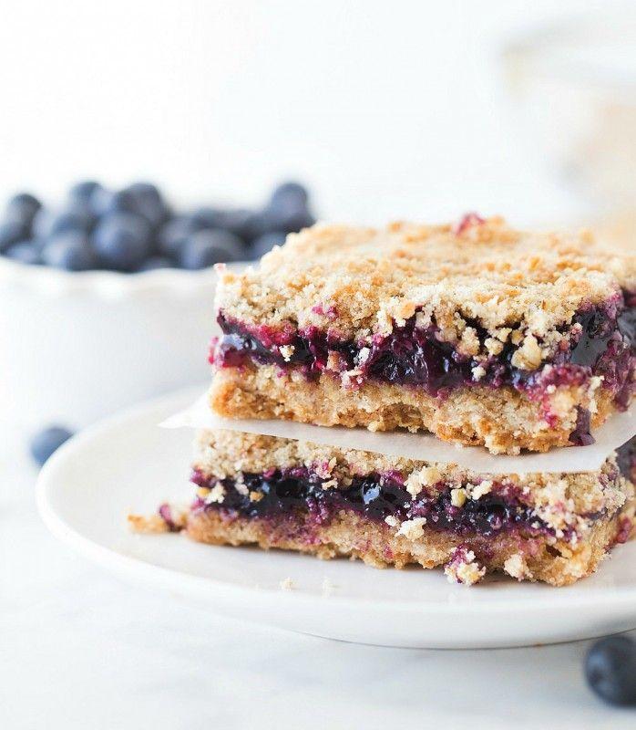Blueberry Crunch Bars #SummerDessertWeek | Southern Plate