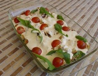 #Sałatka ze szpinakiem, boczkiem i suszonymi pomidorami