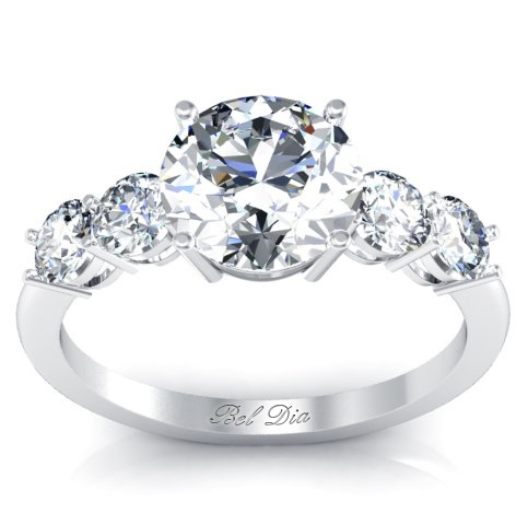 1000 Images About 5 Stone Diamond Ring Settings On