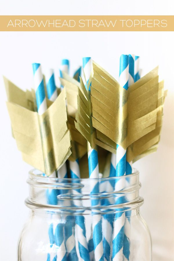 DIY arrowhead straw toppers | Squirrelly Minds