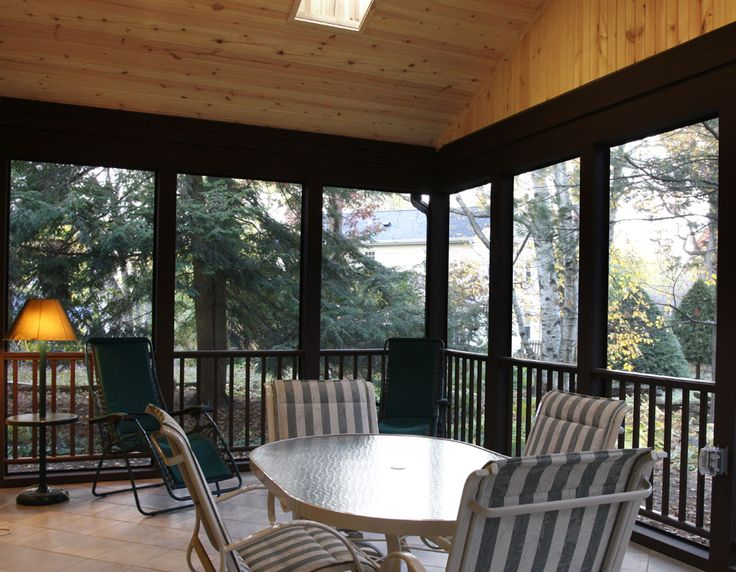 Porch Vs Deck Which Is The More Befitting For Your Home: Interior Of A 3 Season Porch Addition