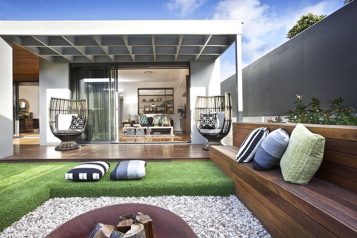 Clarendon Homes' Sheridan 40 - Alfresco and fire pit