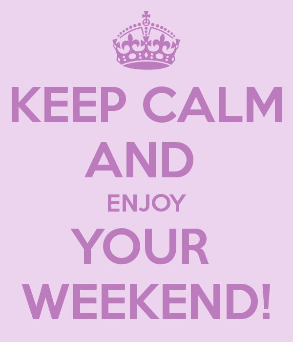 Fijn weekend :)