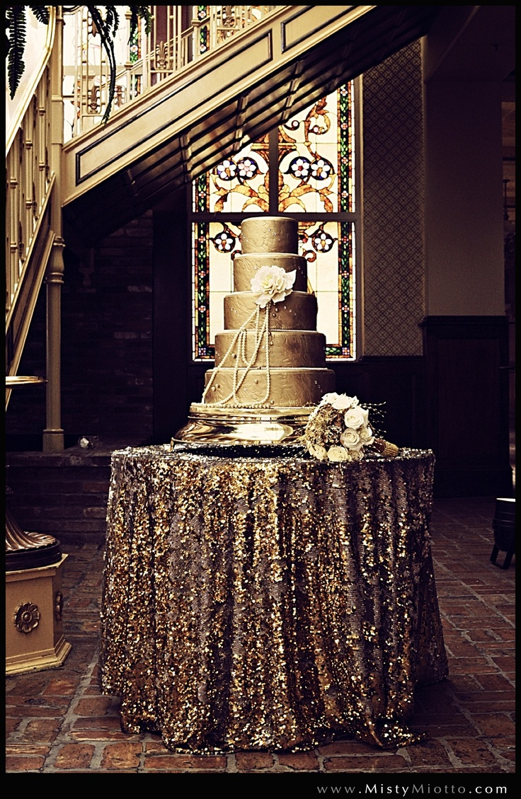 #Cake | All That Glitters is #Gold | Great #Gatsby Inspired Shoot | The Ballroom at Church Street | Photography by @Misty Miotto