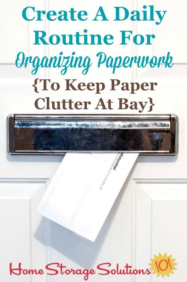how to keep office paperwork organized