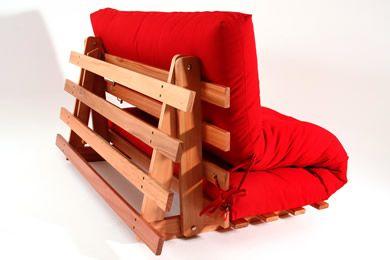 O Sofá cama Futon modelo S é ideal para sua sala de TV, quarto de hóspedes, casa de praia, escritório, pode ser usado em 3 posições.