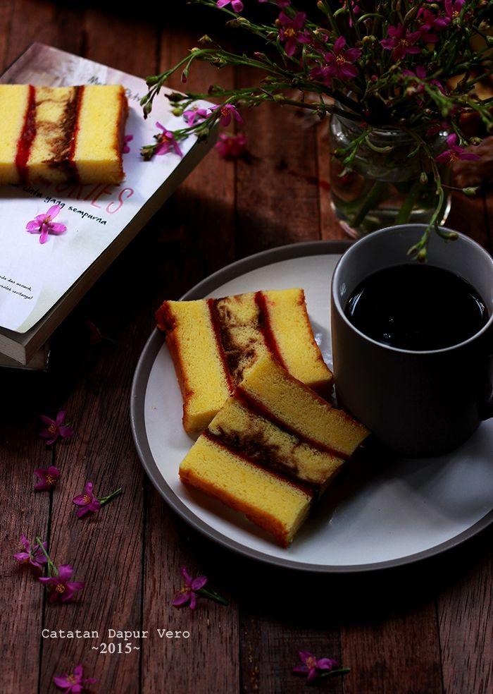 Catatan Dapur Vero: CAKE LAPIS MARMER
