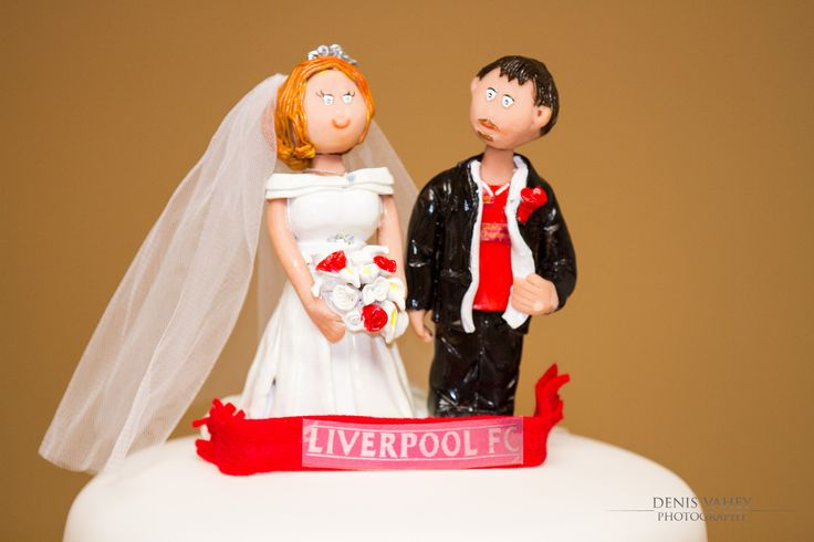 our #LFC cake topper keeping in with the Liverpool FC Theme for our wedding.