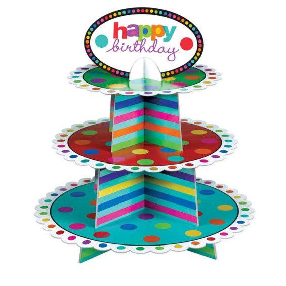 3 Tier Birthday Cupcake Stand