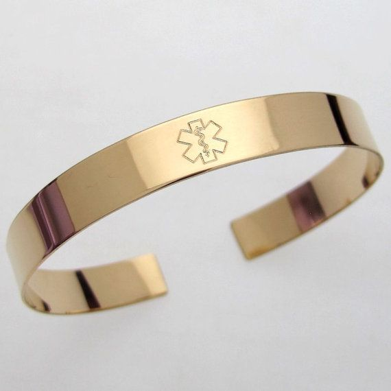 Custom Medical Alert Bracelet Hidden Message By Engravedjewelry More