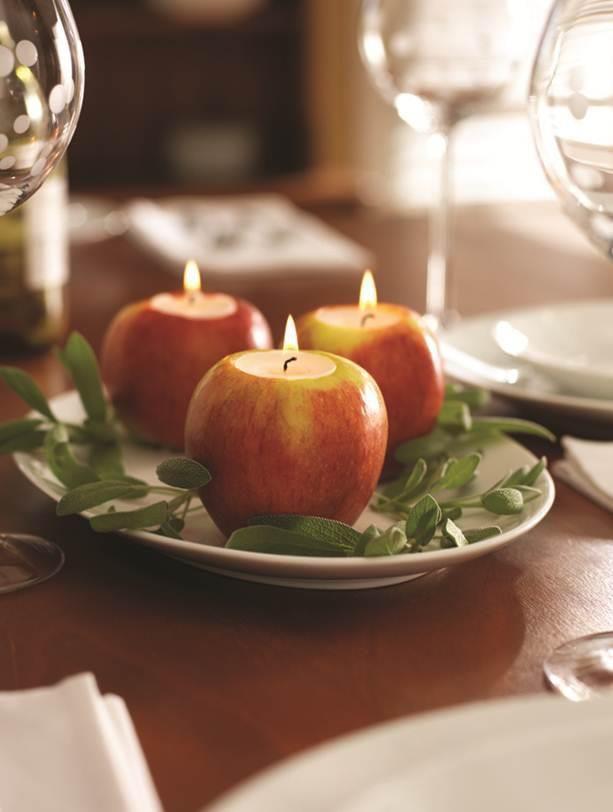 cored apple centerpiece
