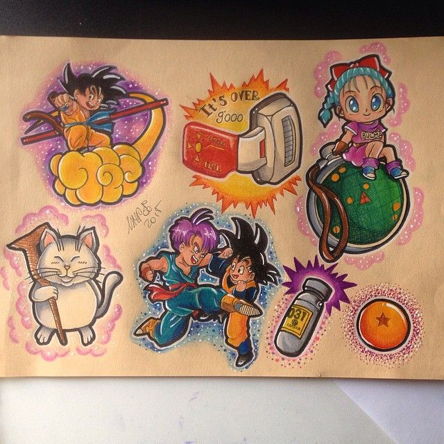 dragonball tattoo flash ava. Black Bedroom Furniture Sets. Home Design Ideas