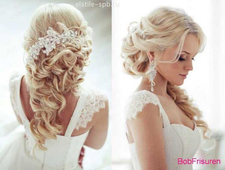 Brautfrisuren romantische hochsteckfrisur  Die besten 20+ Hochzeitsfrisuren mit schleier Ideen auf Pinterest ...