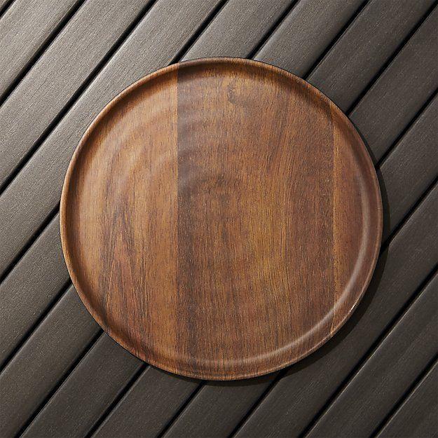 Wood Grain Melamine Dinner Plate Crate And Barrel Melamine Dinner Plates Dinner Plates Crate And Barrel