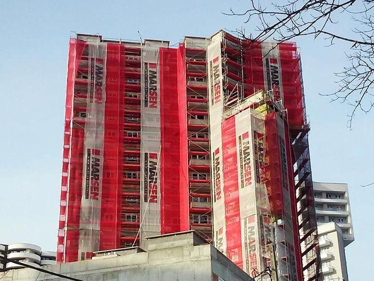 Cztery Wieże w budowie