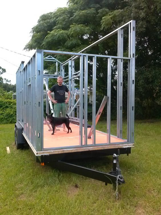 Pros and Cons of using steel framing in a tiny house on wheels.  By Erin & Rob.