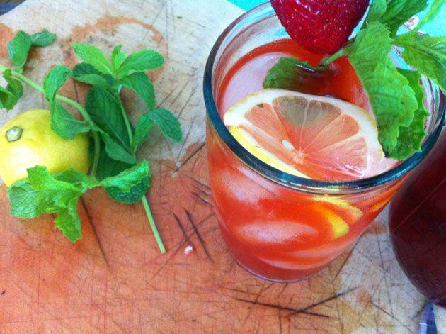 Strawberry Vodka and Strawberry Vodka Lemonade