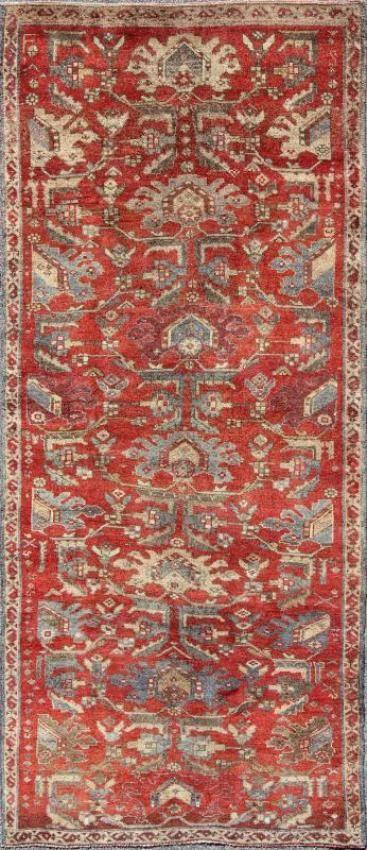 """KEIVAN WOVEN ARTS,    Type :Oushak Origin :Turkey  Size : 4'6""""x10'10""""  Circa :1940"""