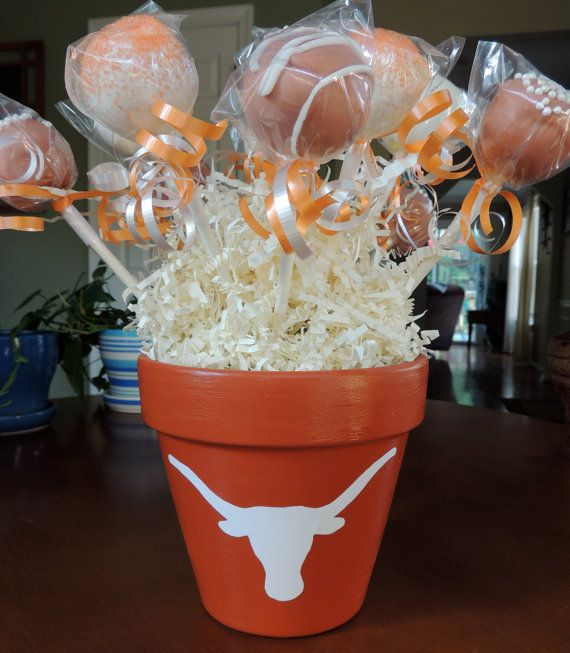 Texas Longhorn Cake Pop Bouquet by CeCesPopShoppe on Etsy, $45.00