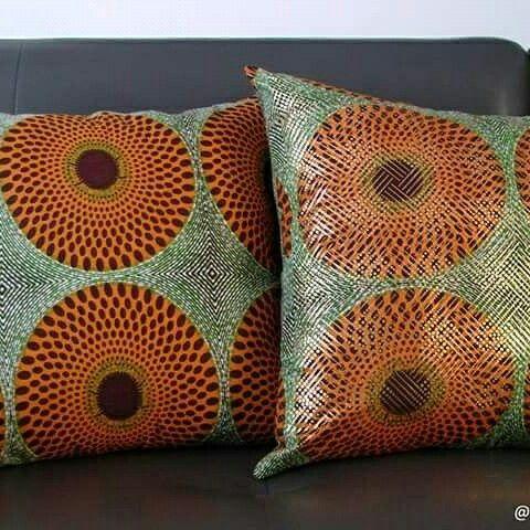 Ankara, waxprint cushion cover