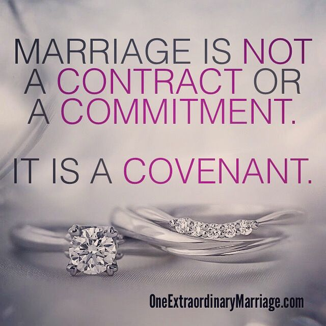 MARRIAGE IS NOT A CONTRACT OR A COMMITMENT. IT IS A CONVENT.