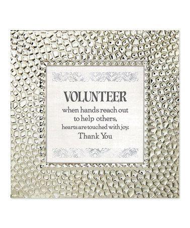 Love this 'Volunteer' Frame on #zulily! #zulilyfinds