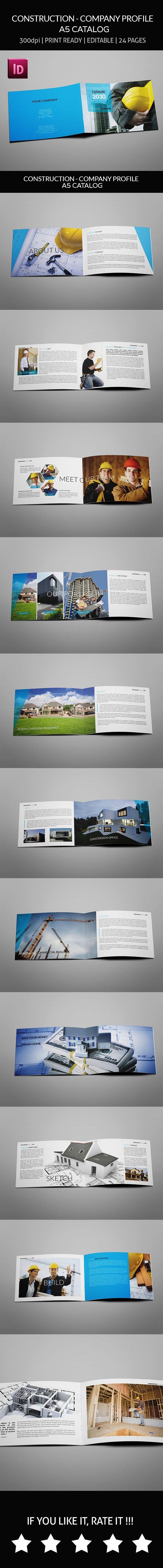 Company Profile Real Estate Properti - Construction - Company Profile A5 Catalog