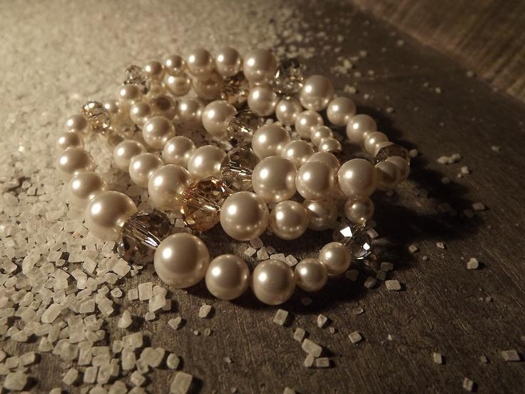 Bracciali : Bracciale di cristalli e perle Swarovski